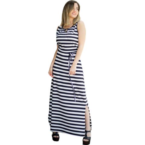 vestido informal largo a rayas normandie nmd verano 2022