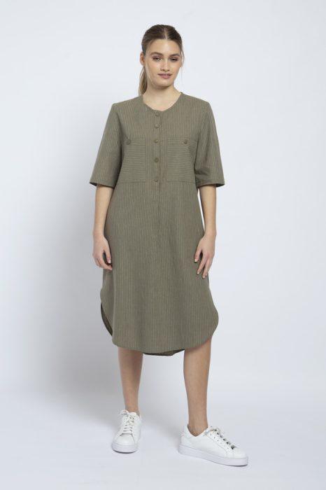 vestido lino verano 2022 de Awada