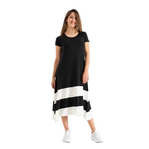vestido mangas cortas asimetrico modal normandie nmd verano 2022