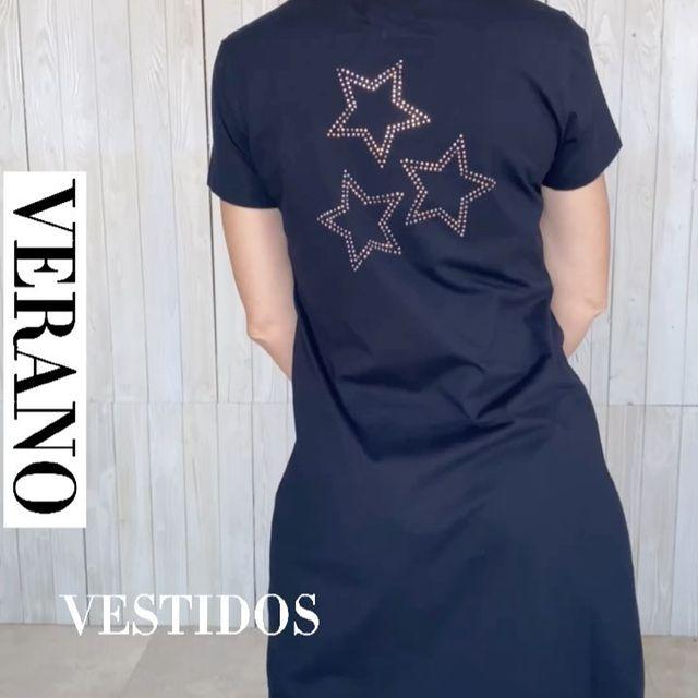 vestido negro casual talles grandes verano 2022 Veramo