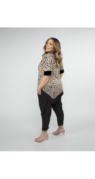 blusa animal print talles grandes lecol verano 2022