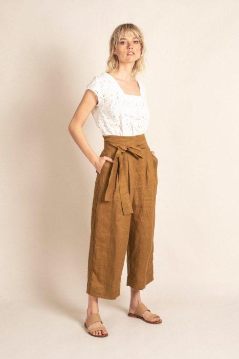 pantalon culotte lino verano 2022 Sarawak