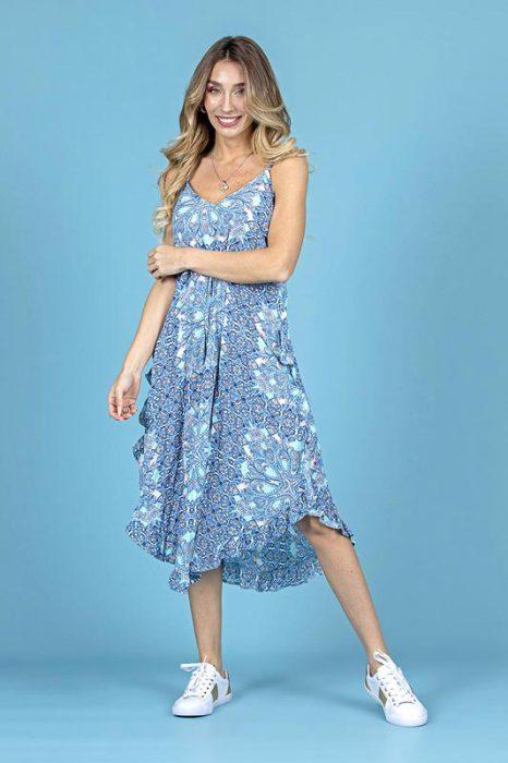 vestido asimetrico senoras verano 2022 Carla Vianinn
