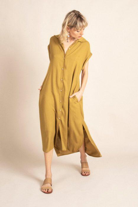 vestido camisero lino verano 2022 Sarawak